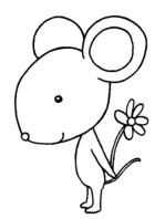 简单的老鼠简笔画