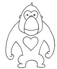 猩猩简笔画图片教程