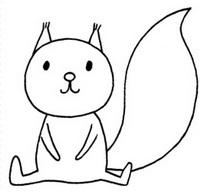 卡通松鼠简笔画