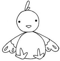 鸡简笔画怎么画