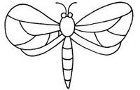 漂亮的蜻蜓简笔画