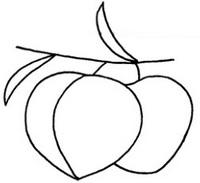水蜜桃简笔画