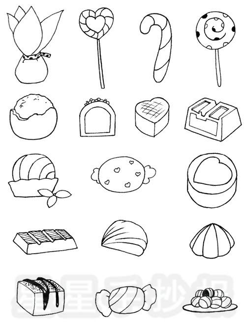 糖果简笔画简单画法