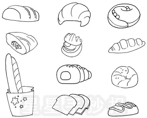 面包简笔画图片画法