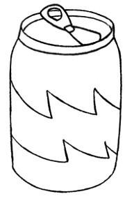 易拉罐饮料简笔画