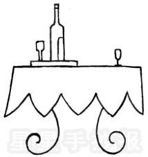 桌子简笔画简单画法