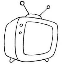 卡通电视机简笔画