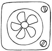 电扇简笔画