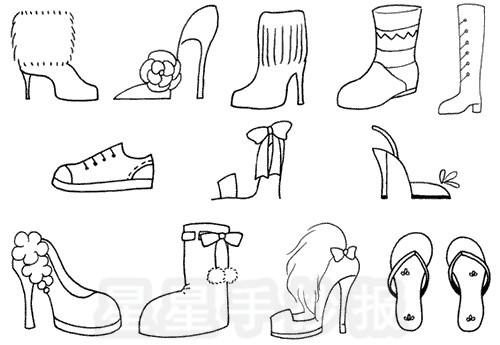 鞋子简笔画图片教程
