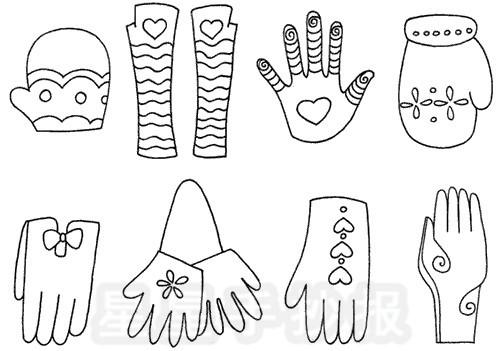 手套怎么画简笔画图解