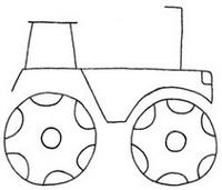 拖拉机简笔画图片画法