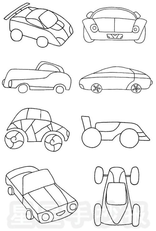 跑车简笔画简单画法