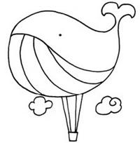 简单的热气球简笔画