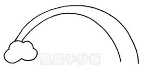 彩虹简笔画