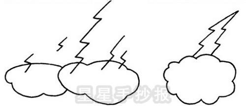 雷电简笔画