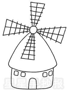 风车简笔画图片画法