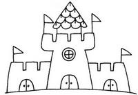 城堡简笔画图片步骤教程