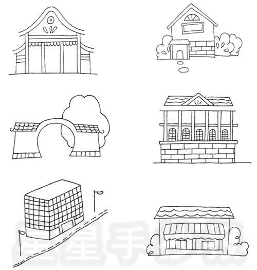建筑小图简笔画