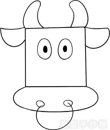 公牛简笔画