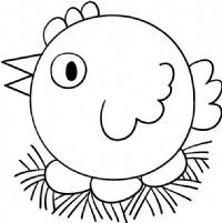 母鸡简笔画图片画法
