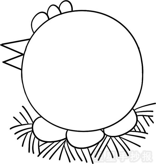 简笔画 母鸡的尖嘴巴