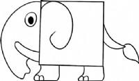 小象简笔画怎么画
