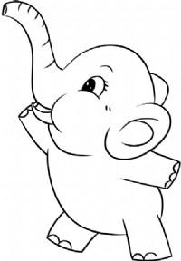小象简笔画图片教程
