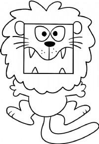 大狮子简笔画