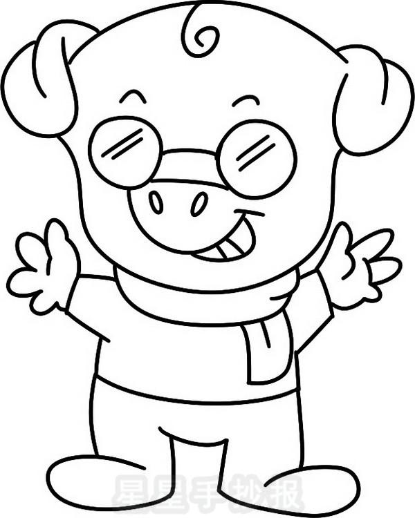 猪状元简笔画