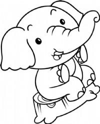 小象简笔画简单画法