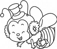 小蜜蜂简笔画图片教程