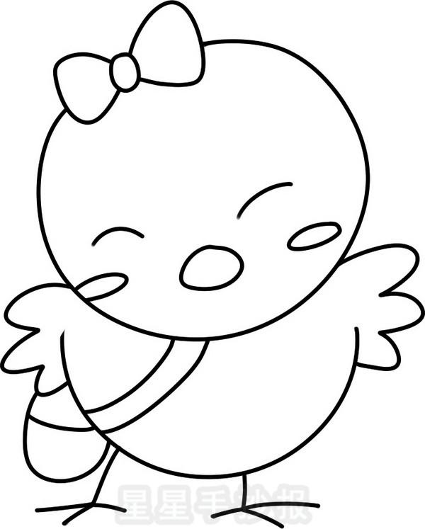 鸡宝宝简笔画