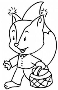 卡通狐狸简笔画