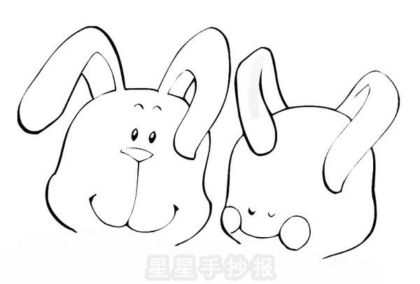 小兔简笔画
