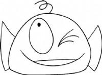 大嘴怪鱼简笔画