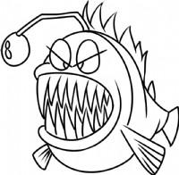 龅牙鱼简笔画