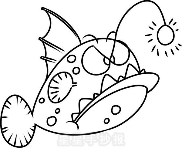 灯笼鱼简笔画