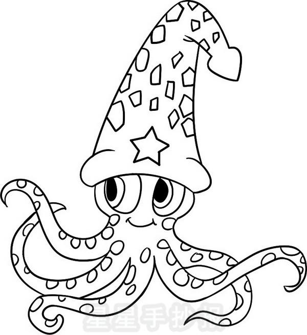 小章鱼简笔画怎么画