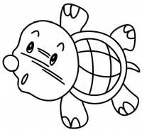海龟简笔画
