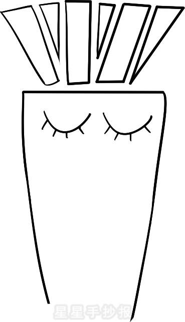 卡通胡萝卜简笔画