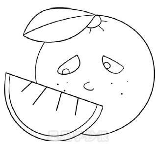 橙子简笔画简单画法