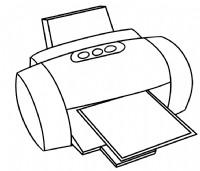 打印机简笔画
