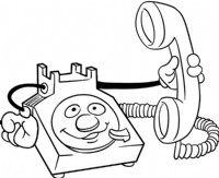 卡通电话简笔画