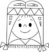 印第安女孩简笔画
