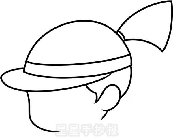 秋游我与动物交朋友简笔画_卡通女孩简笔画