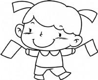 可爱的女孩简笔画