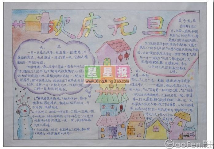2012春节手抄报版面设计图4P