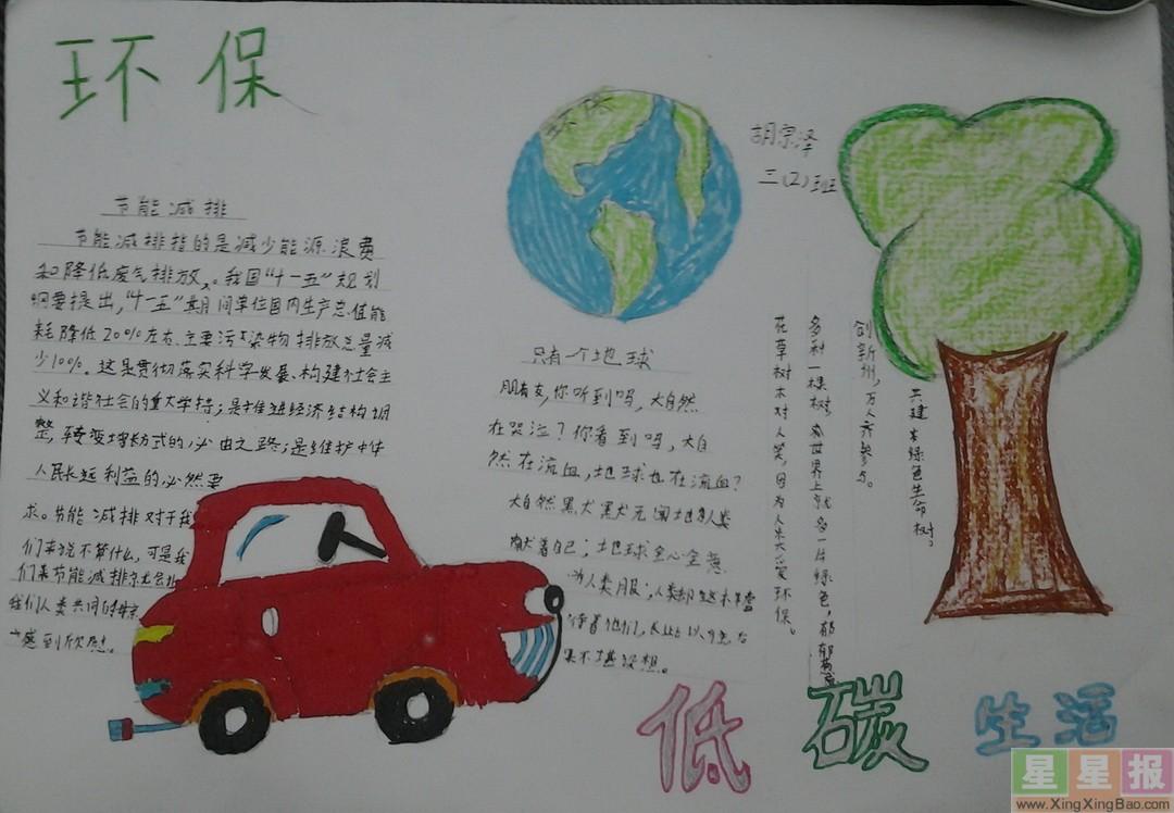 小学生环保手抄报资料
