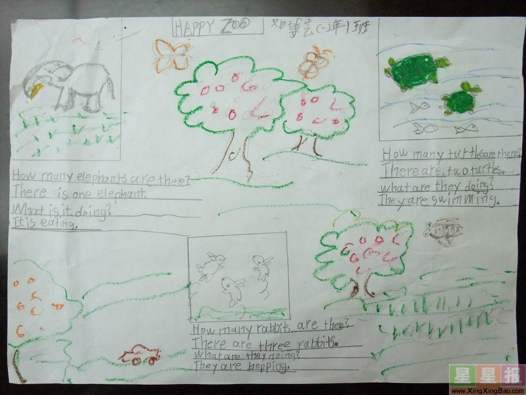 开心动物园手抄报设计图
