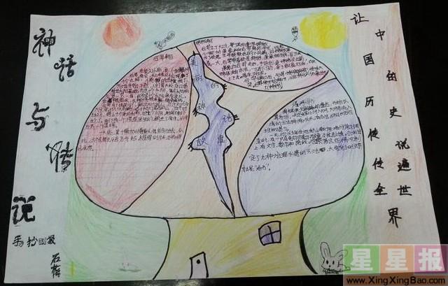 神话传说的手抄报内容 神话传说的手抄报版面设计图片